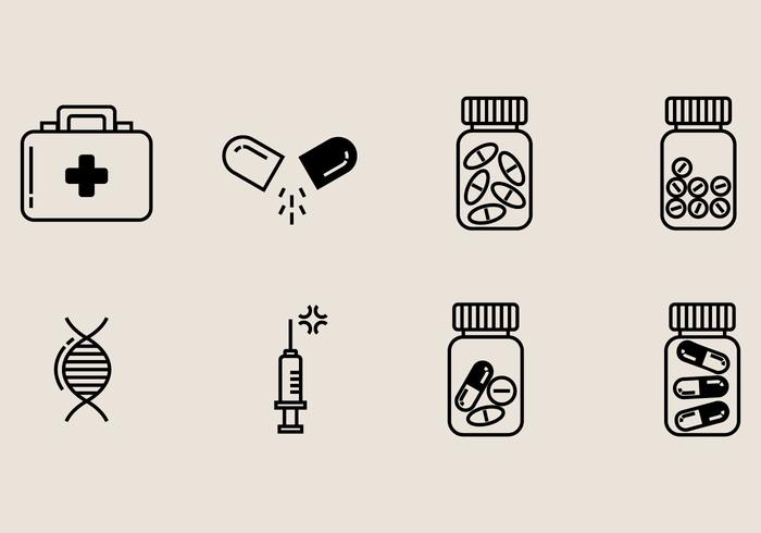 Ícone da caixa de pílula vetor