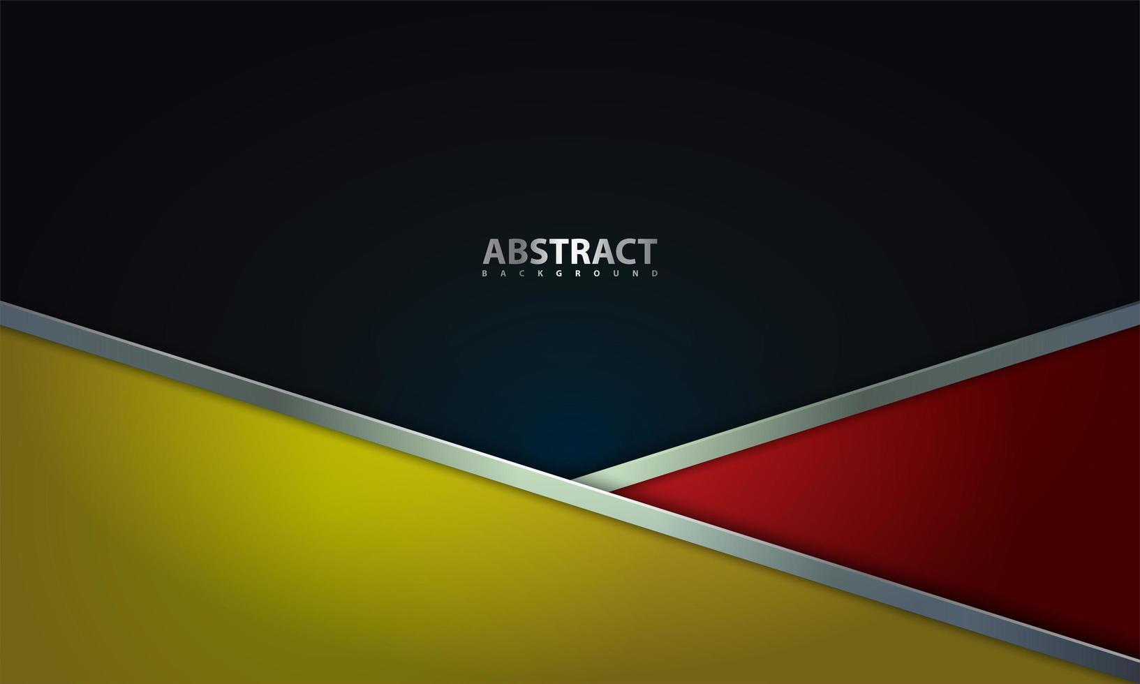 design de camada vermelha, amarela e preta de estilo moderno vetor