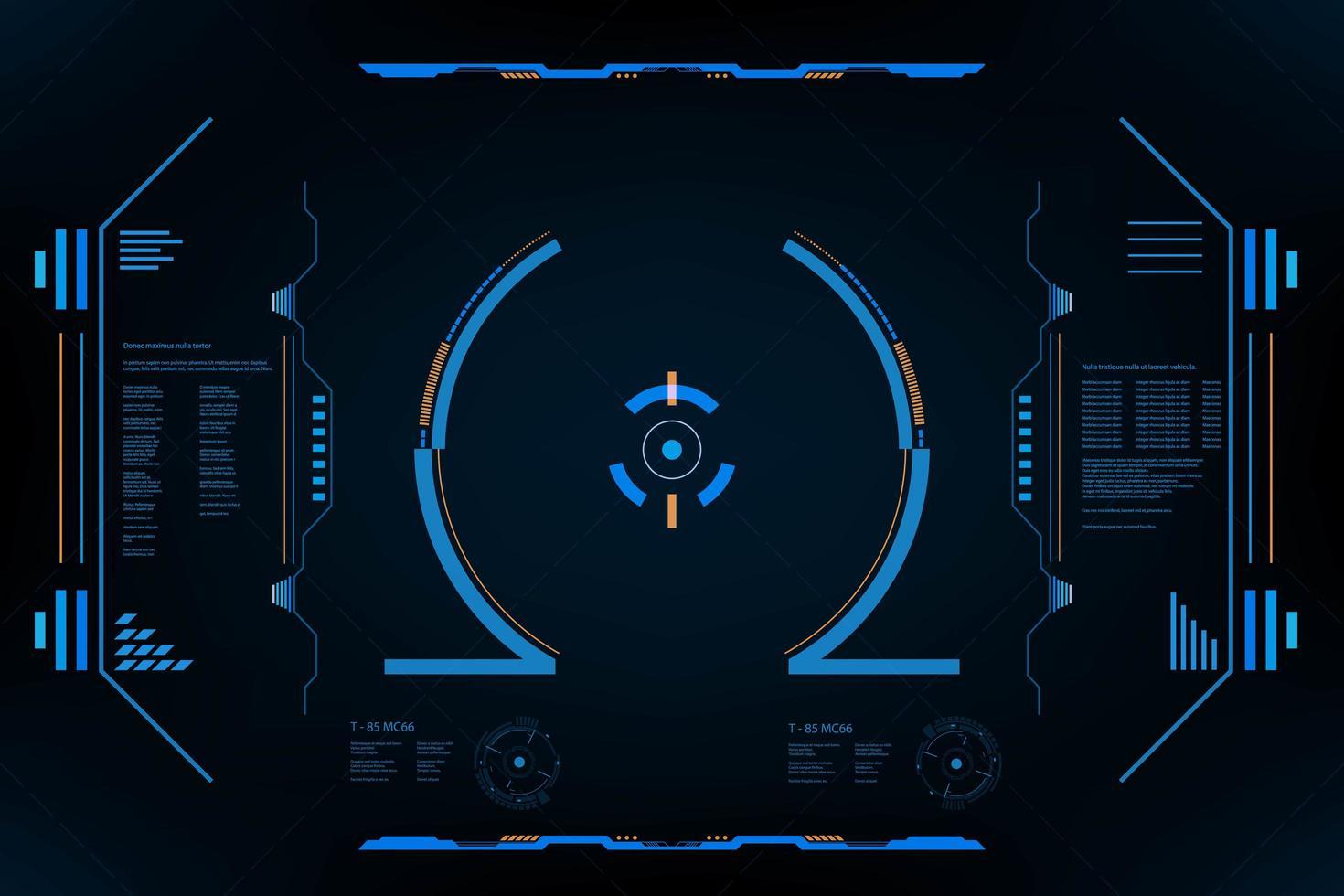 interface do usuário hud panel vr vetor