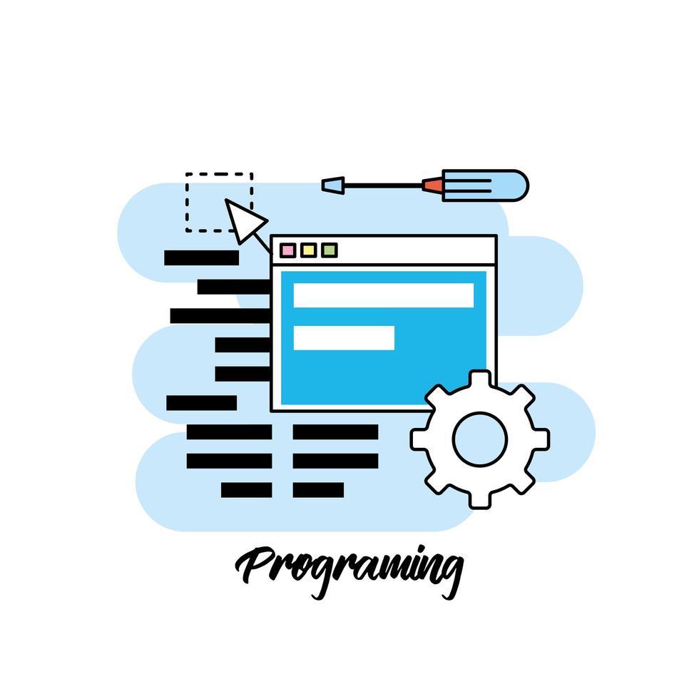 programação e design de conceito de codificação vetor
