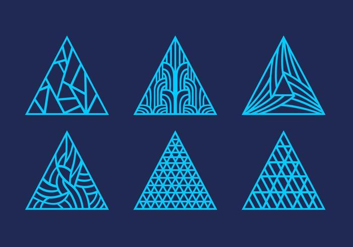 Deslizamento a laser abstrato triângulo ornamento padrão vetor