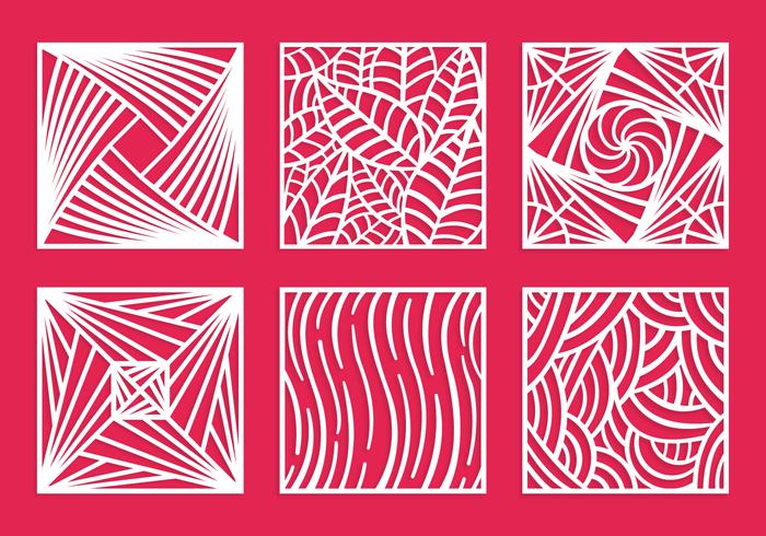 Pacote vetorial quadrado de corte a laser vetor