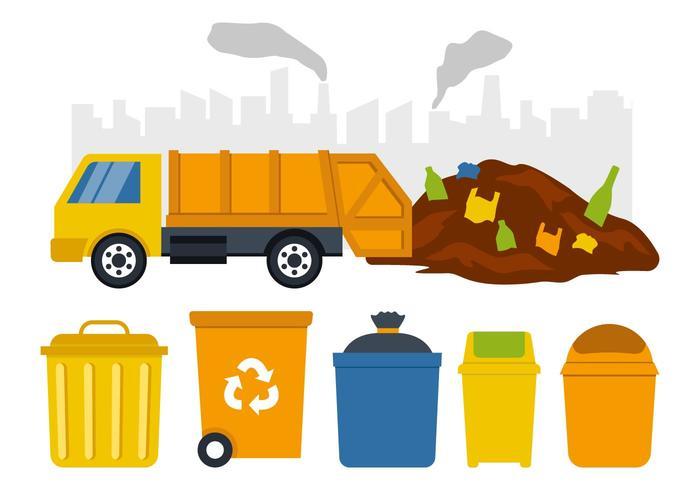 Ilustração livre do vetor da coleção de lixo