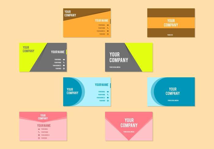 Modelo de vetor de cartão de visita gratuito