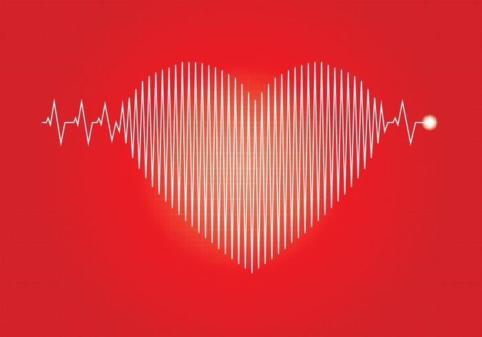 Ilustração Flatline Heart Beat vetor