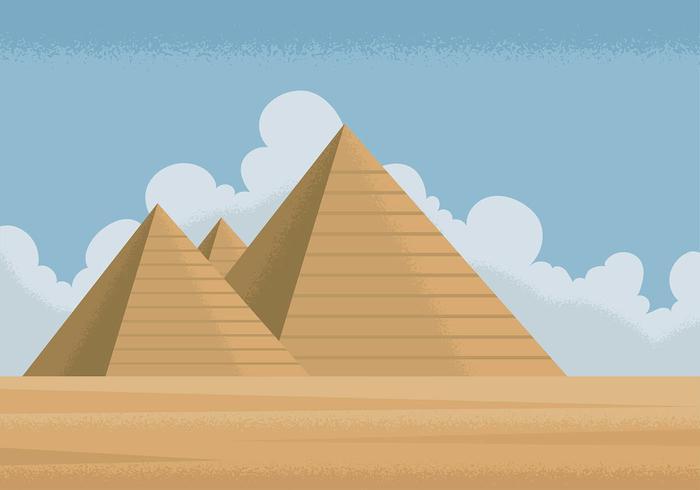 Vetor livre de piramide