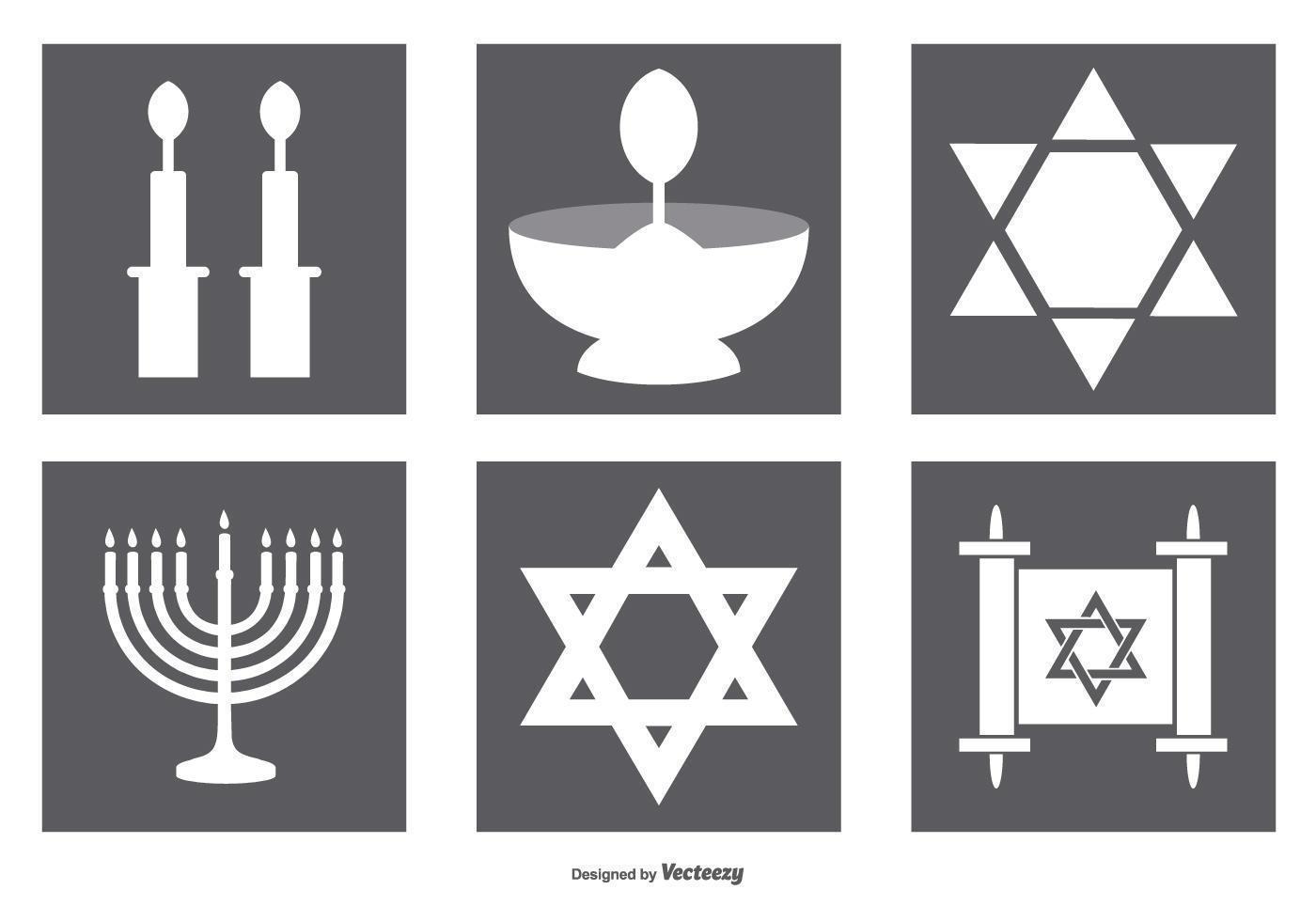 Coleção de ícones judeus vetor