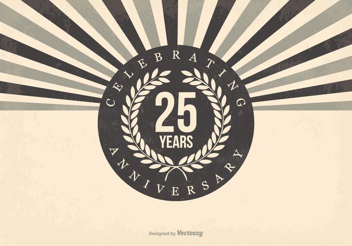 Ilustração retro do 25º aniversário vetor