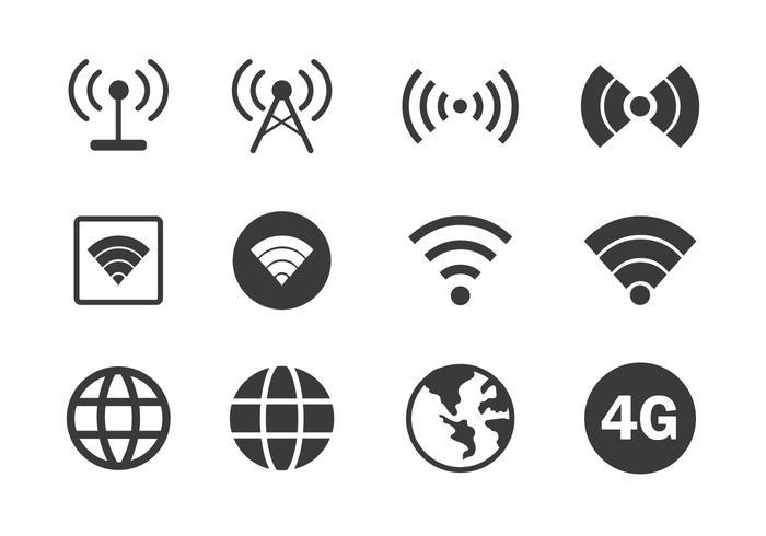 Ícone de conexão com a internet vetor