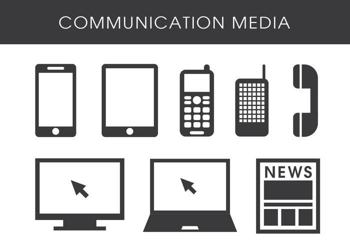 Meios de comunicação vetor