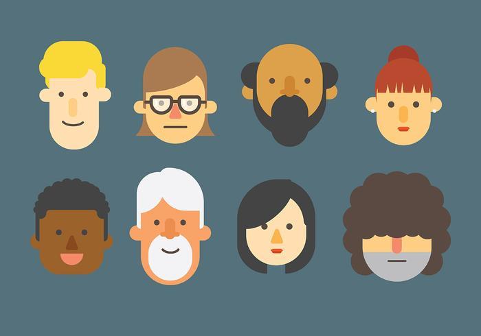 Vector de ícones de pessoas livres