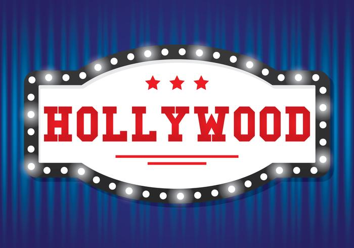 Sinal de luz de Hollywood vetor