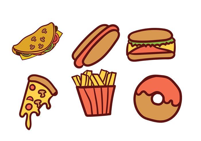 Pacote de vetores alimentares
