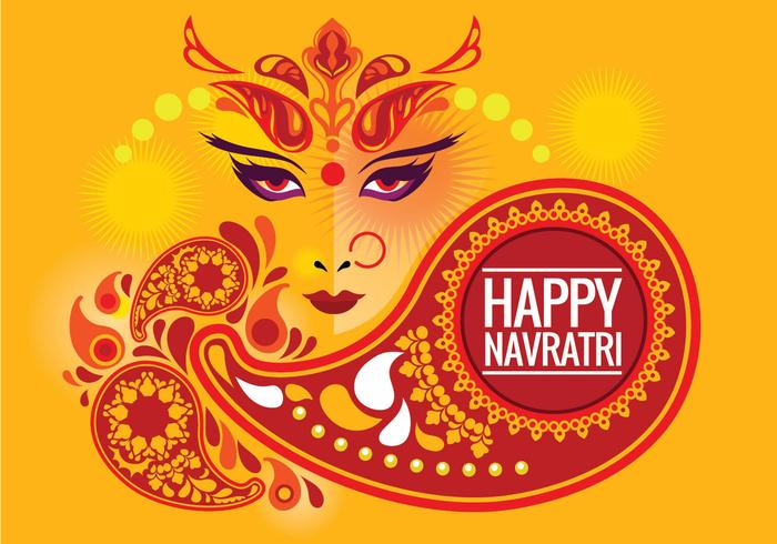 Desenho criativo Durga Puja Background vetor