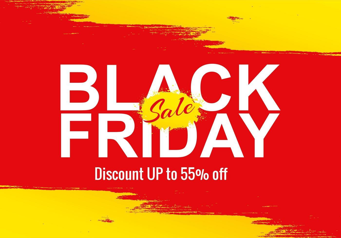 venda de sexta-feira negra para fundo de banner empresarial vetor