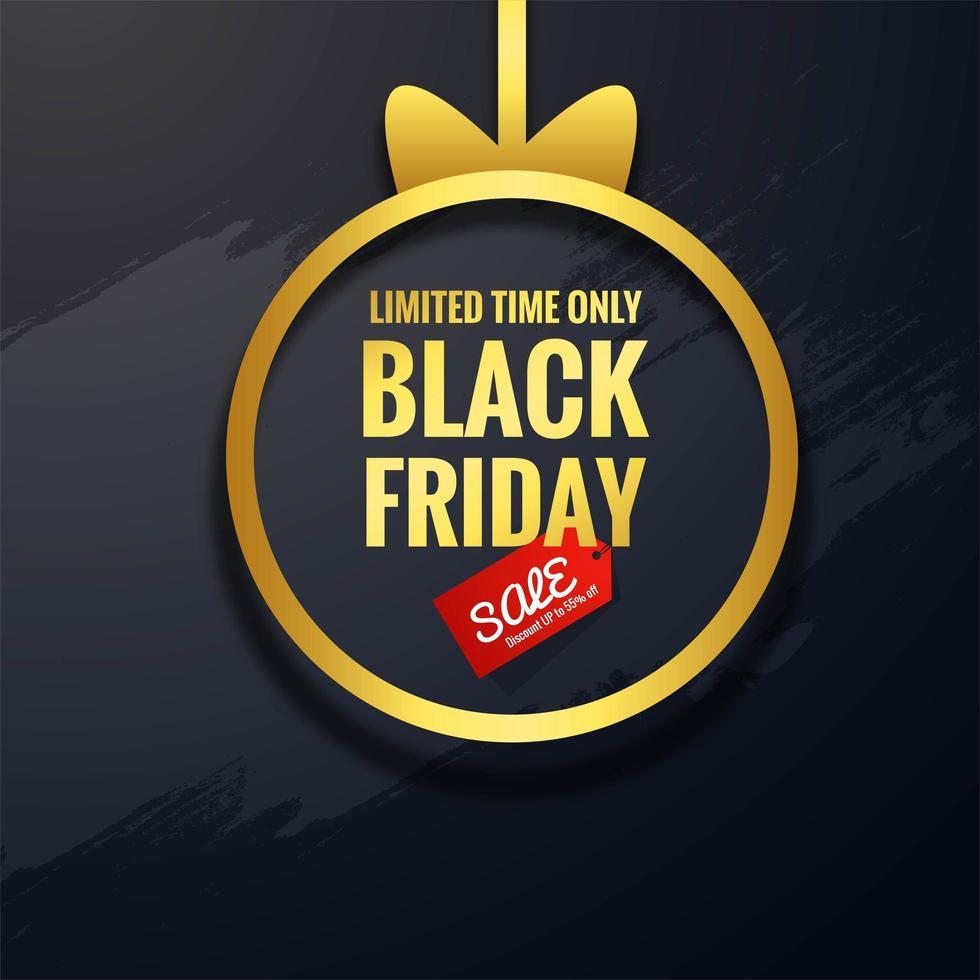 fundo preto conceito de venda sexta-feira vetor
