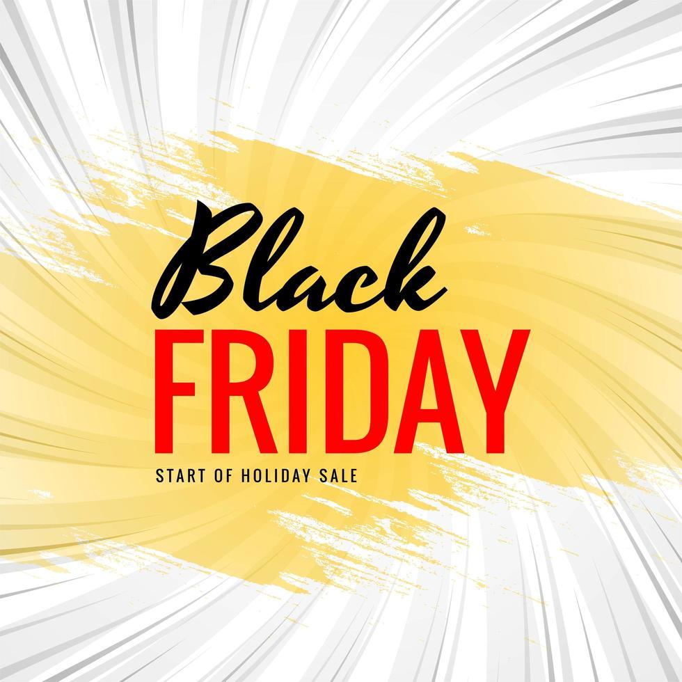 conceito de venda sexta-feira negra com fundo de pincel vetor
