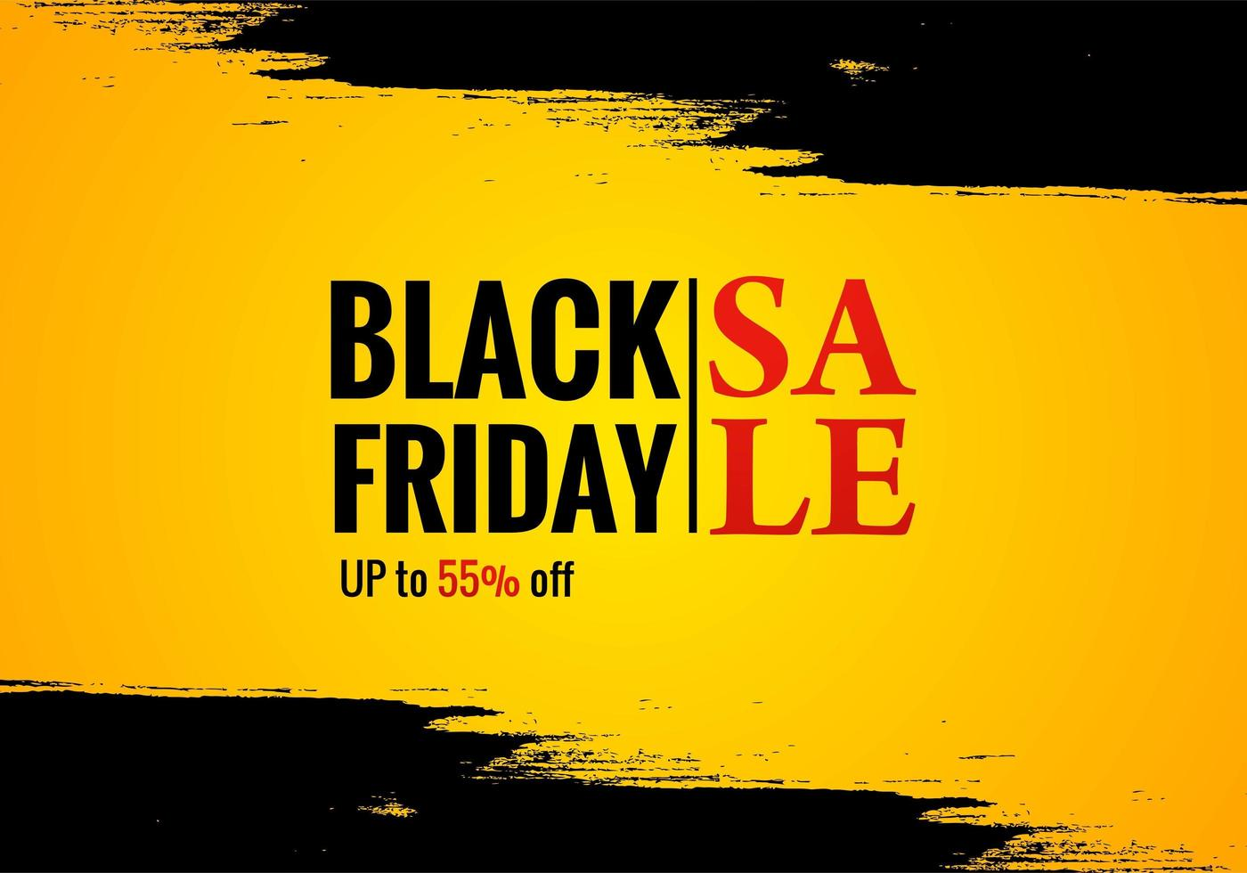 cartaz de venda de sexta-feira negra para fundo grunge vetor