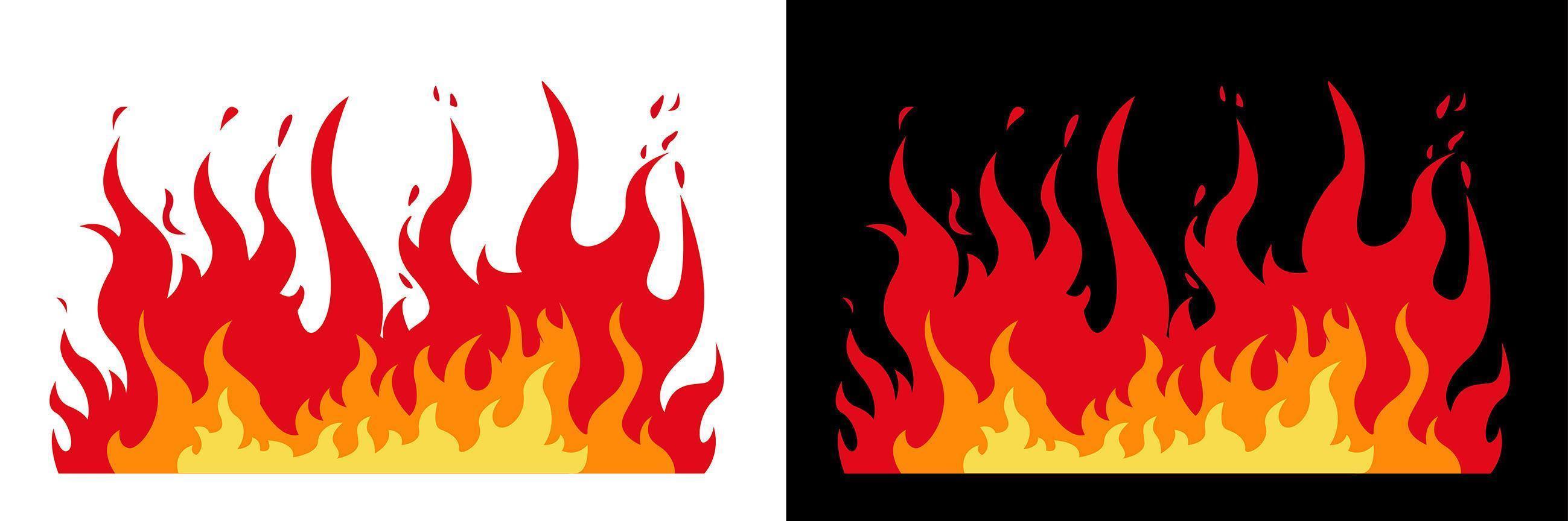 design de chamas de fogo vetor