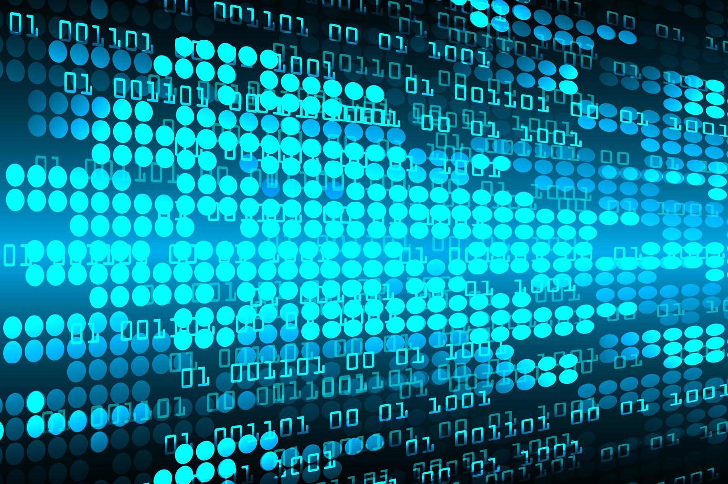 fundo de tecnologia futura de circuito cibernético azul vetor