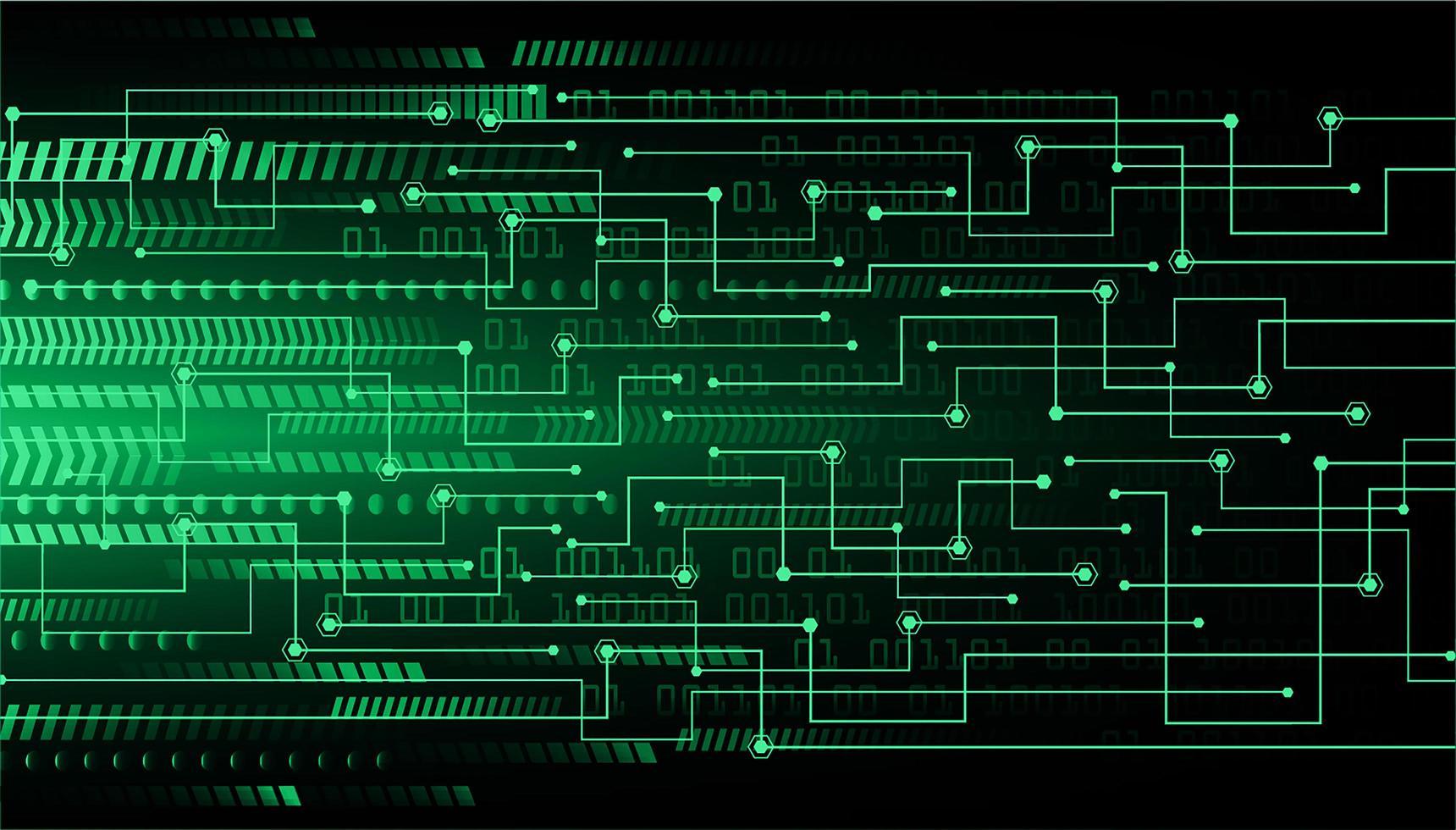 fundo de conceito de tecnologia futura de circuito cibernético verde vetor