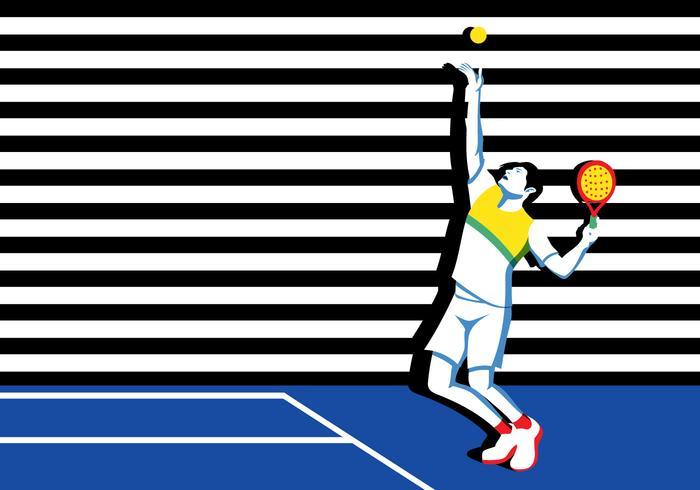 Jogador de tenis Young Padel vetor