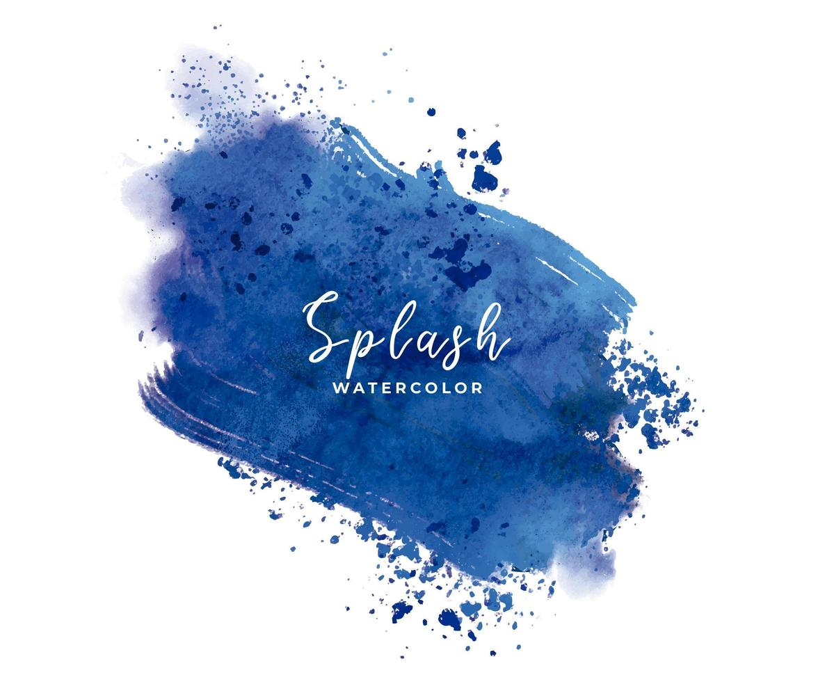 respingo de aquarela azul vetor