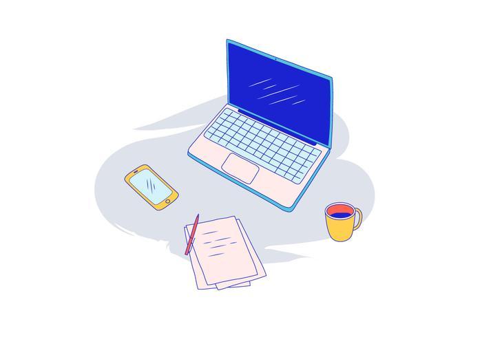 Ilustração vetorial do laptop vetor