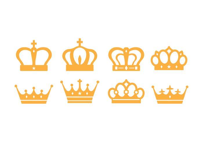 Pacote britânico livre de coroa britânica vetor