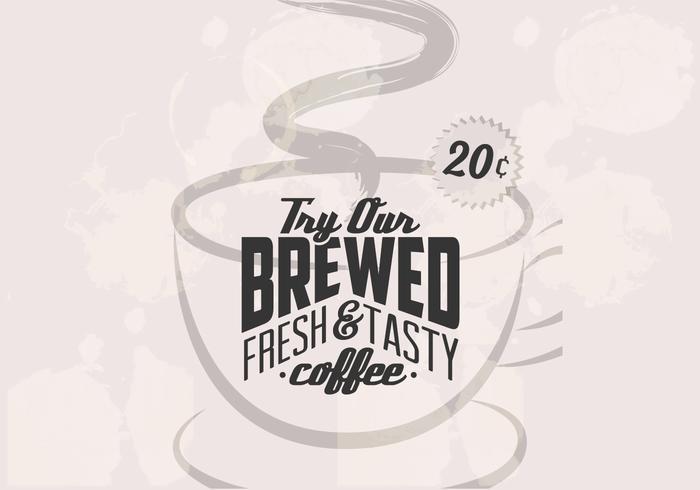Vetor de café retro de 20 centavos
