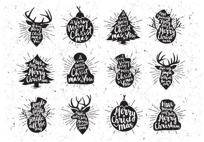 Vetor preto e branco do ícone do natal