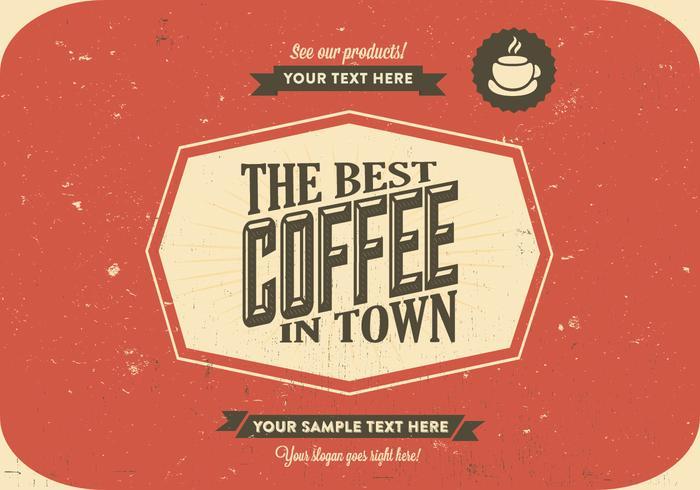 Vetor raspado do logotipo do café