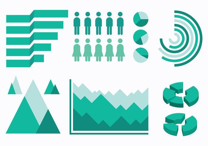 Vector de ícones de elementos infográficos gratuitos