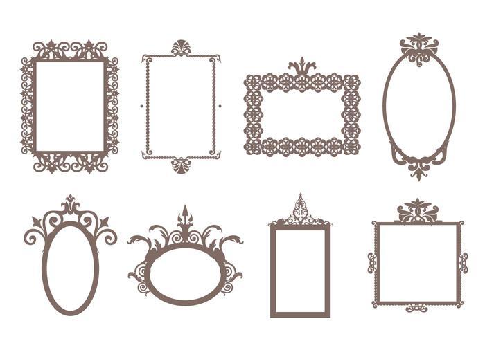 Vector de quadros decorativos grátis