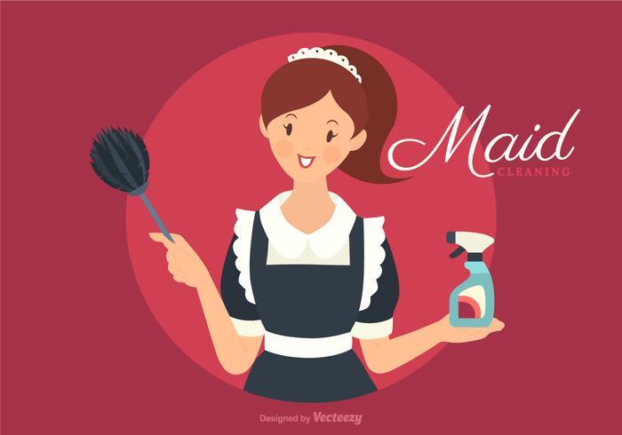 Free French Retro Maid vetor