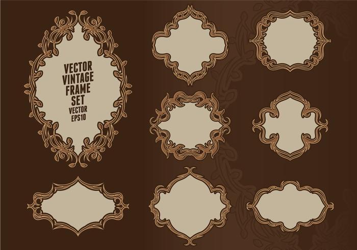 Conjunto de quadro barroco vetor
