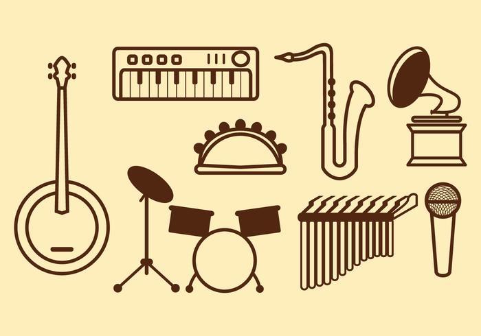 Ícone de vetor de música grátis
