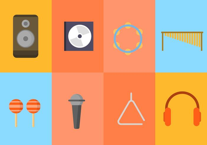 Coleção de vetores de música grátis