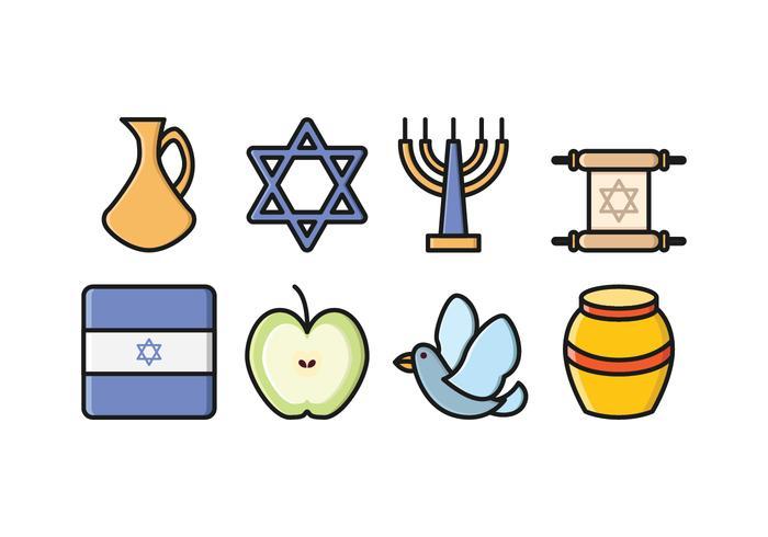 Conjunto de ícones de Israel grátis vetor