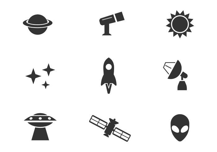 Ícones de vetores de espaço livre