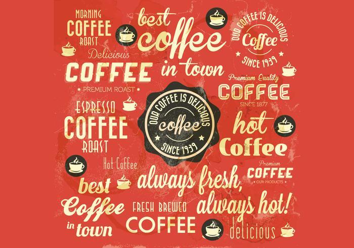 Vector manchado de café