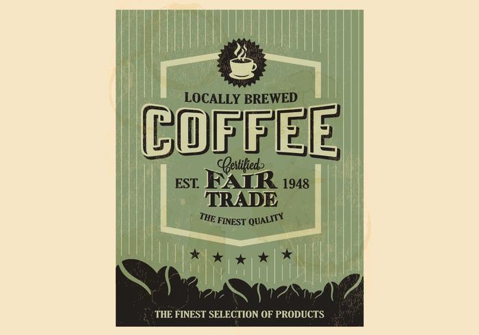 Vetor de café florestal