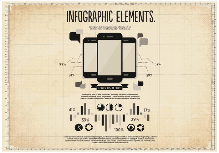 Vector de elementos infográficos