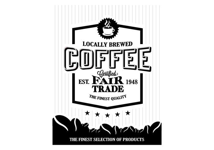 Vector do logotipo do feijão de café