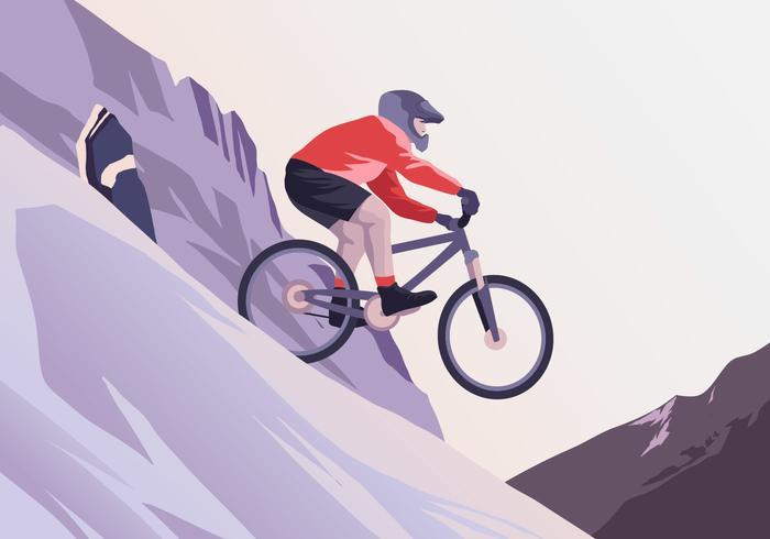 Vetor de trilha de bicicleta rochosa
