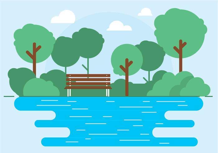 Ilustração do parque ao ar livre do vetor ao ar livre