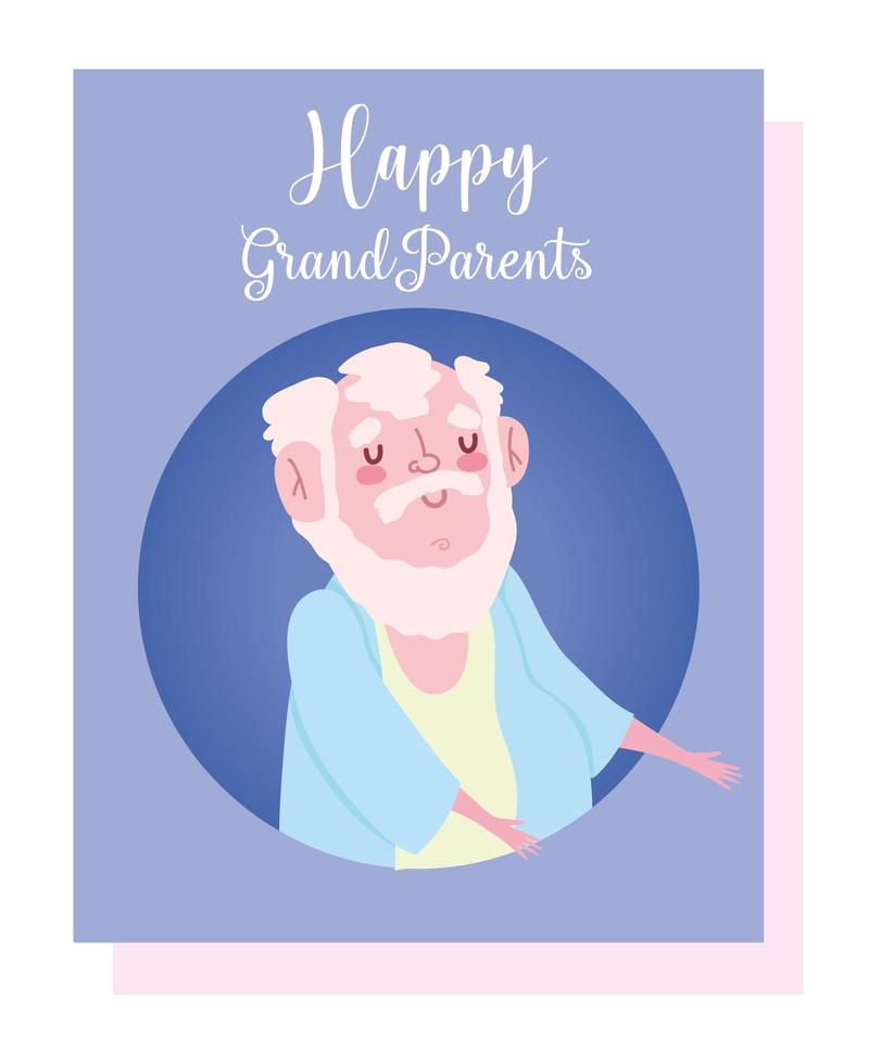 cartão do vovô velho vetor