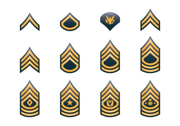 Insígnias do Exército vetor