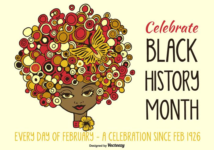 Vector Drawn menina afro-americana Ilustração