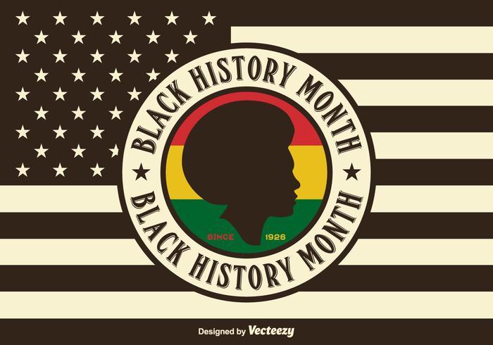 Fundo dos EUA Black History Month Vector